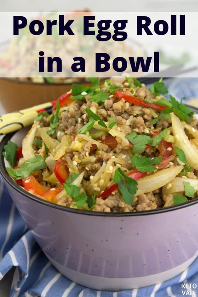 keto pork egg roll in a bowl