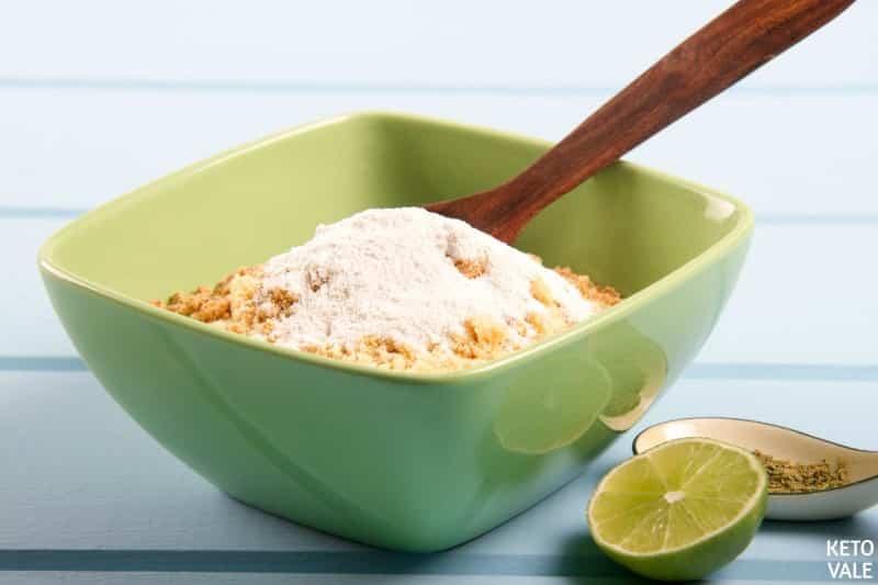 mix egg yolk almond flour butter
