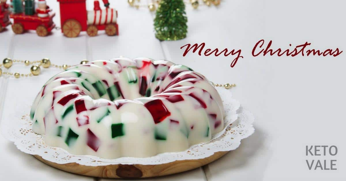 Low Carb Christmas Gelatin Ring