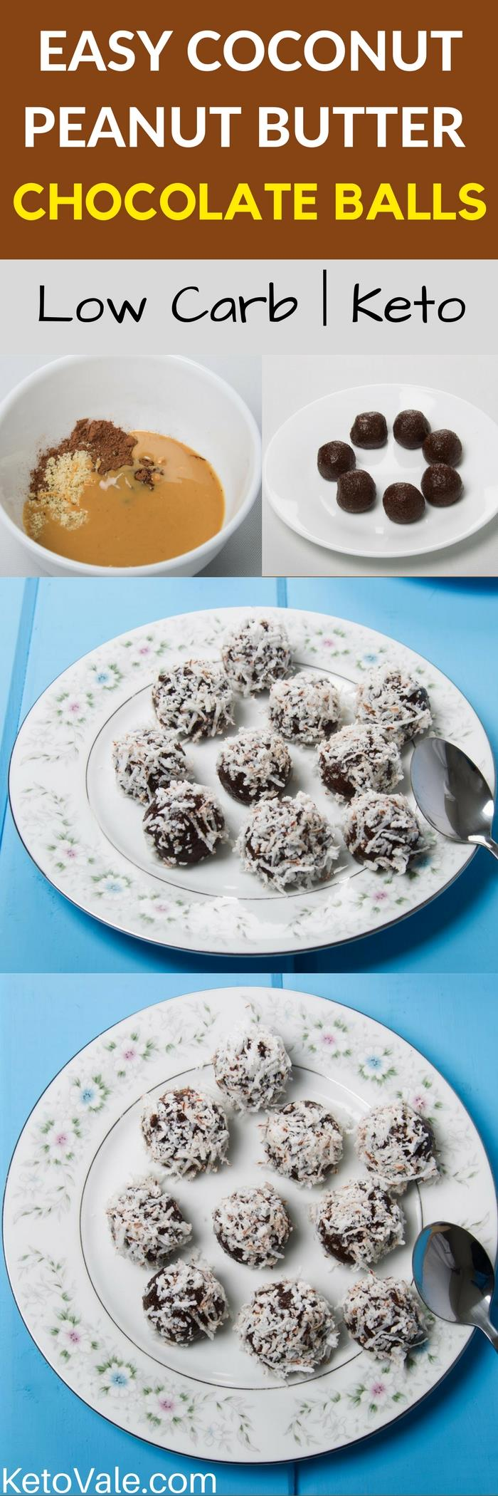 Coconut Peanut Butter Chocolate Balls Recipe