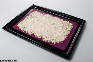 Drying shredded chicken breast