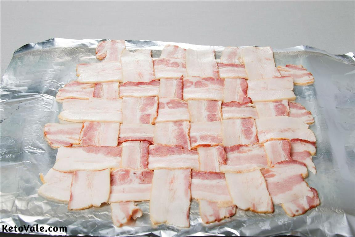 How to make bacon weave
