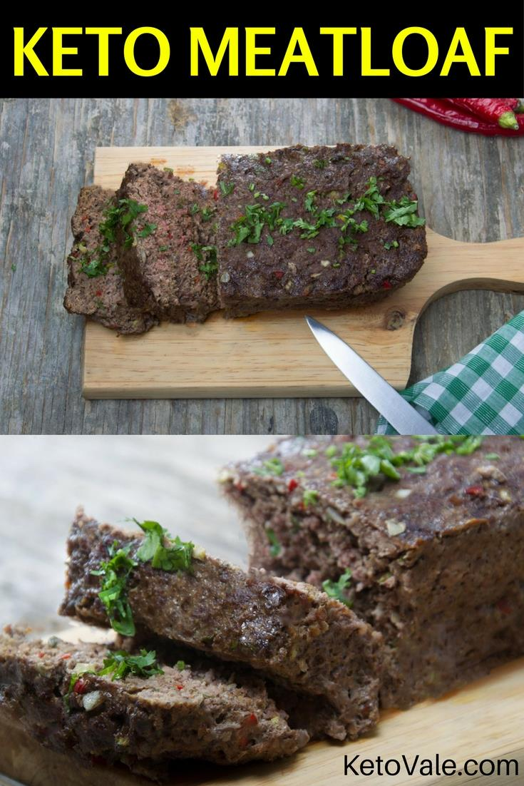 Keto Ground Beef Meatloaf