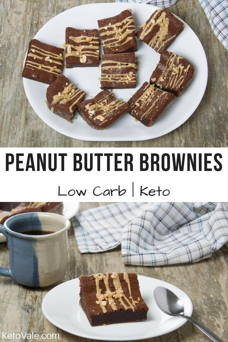 Keto Peanut Butter Brownies