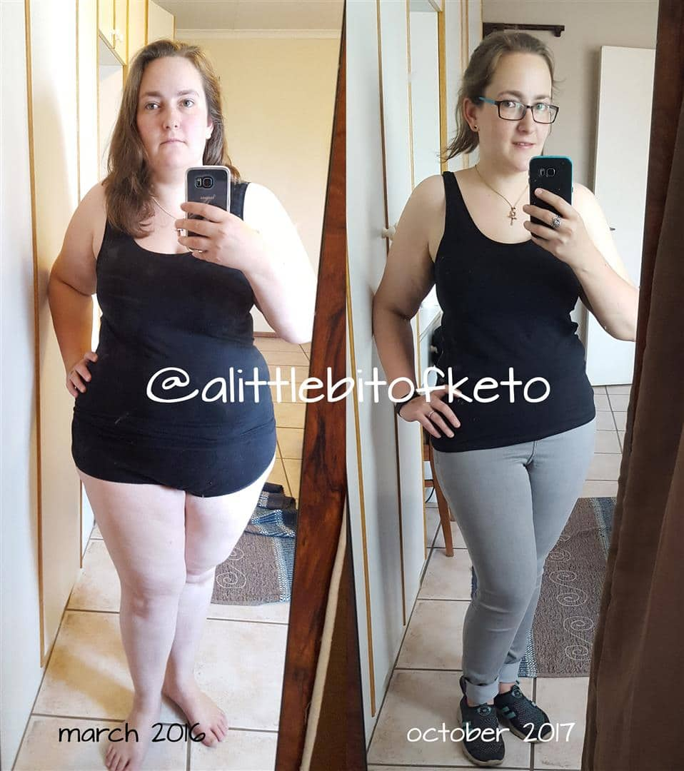 Liz Tristram's Keto Before and After
