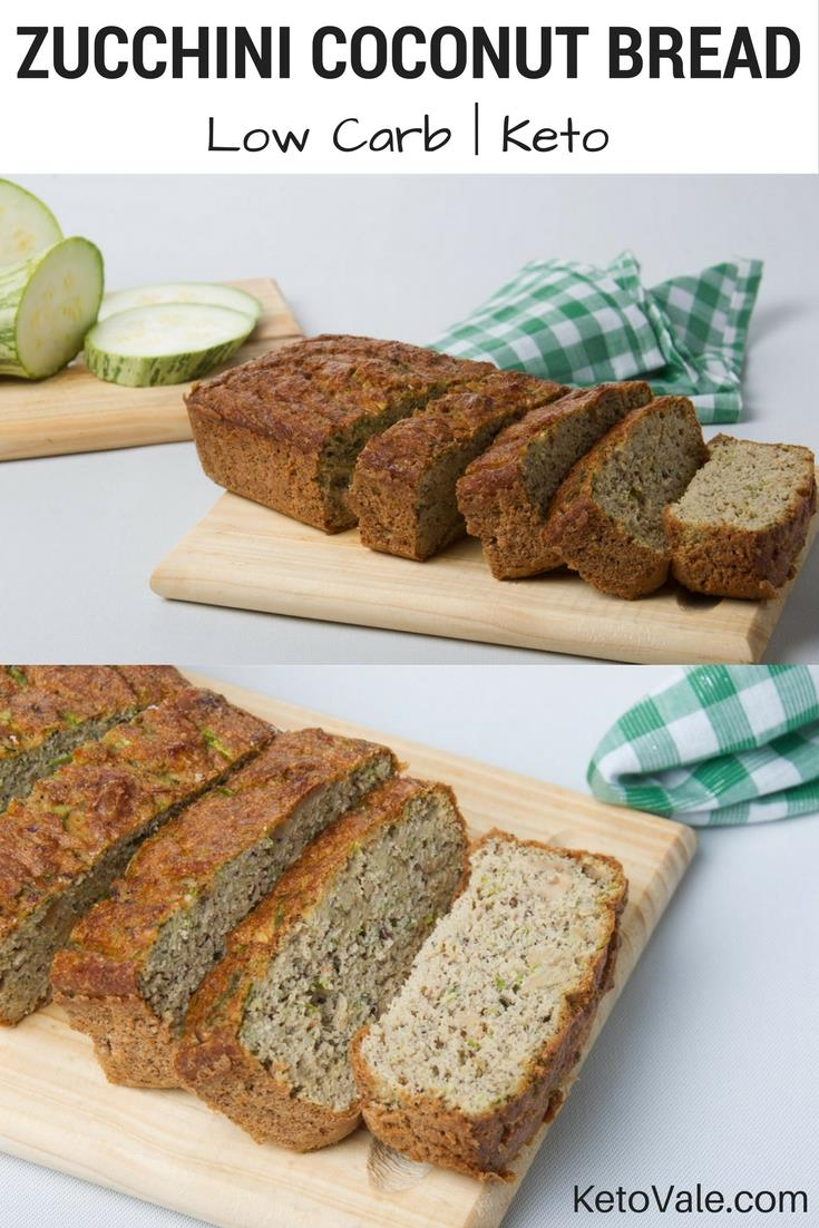 Low Carb Zucchini Coconut Bread