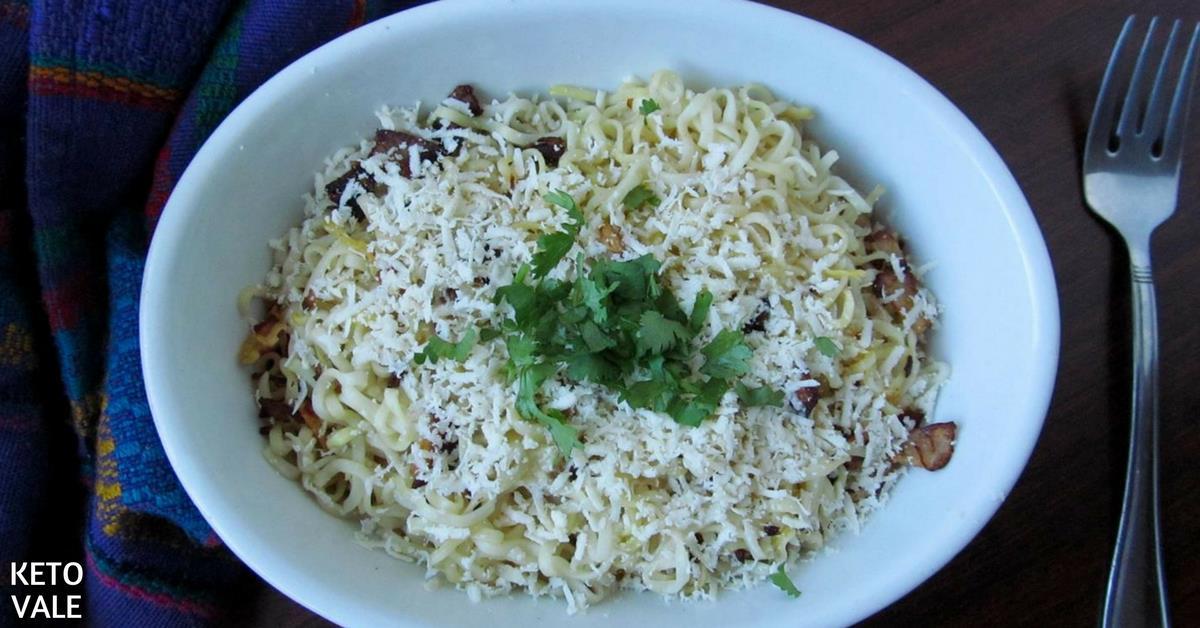 Shirataki Noodles Carbonara Pasta