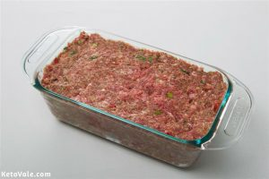 Transfer meat into loaf pan