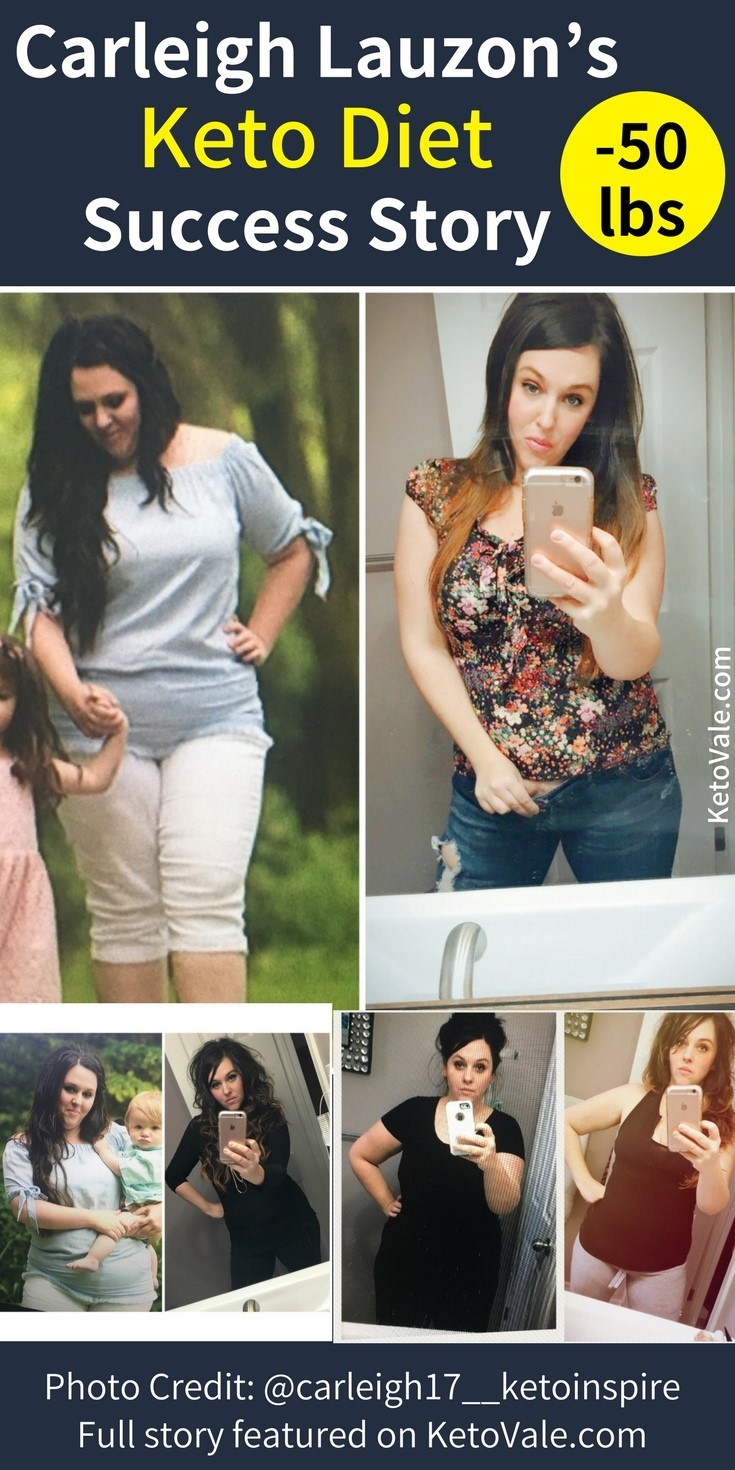 Carleigh Lauzon's Keto Weight Loss Success Story Before and After photo