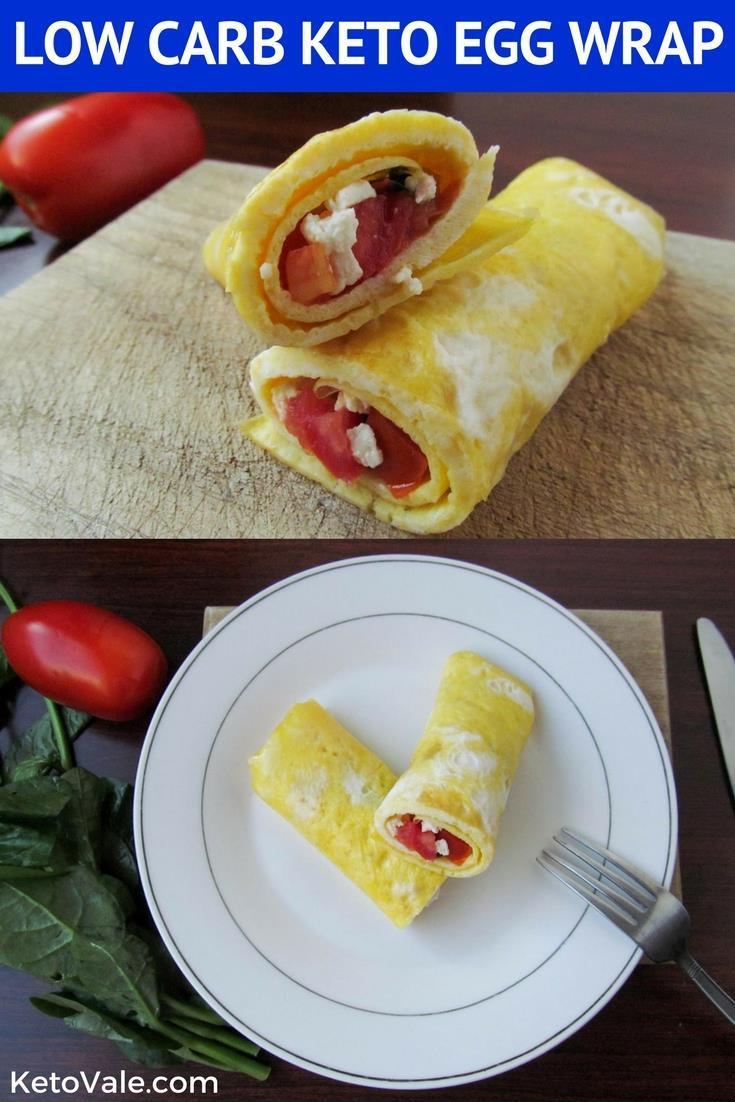 Quick, easy and healthy Keto Egg Wrap for Breakfast