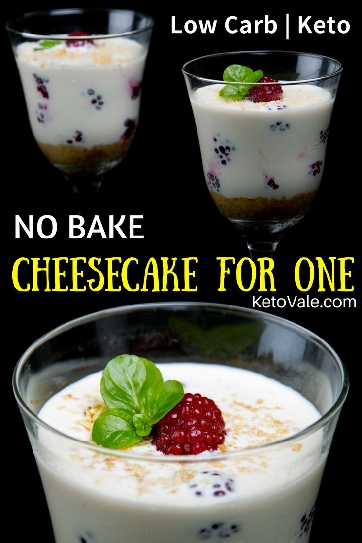 No Bake Keto Cheesecake For One Low Carb Easy Recipe