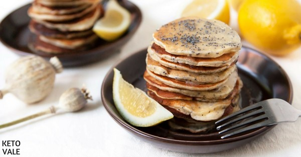 Tasty Lemon Poppy Seed Pancakes Low Carb Recipe | KetoVale