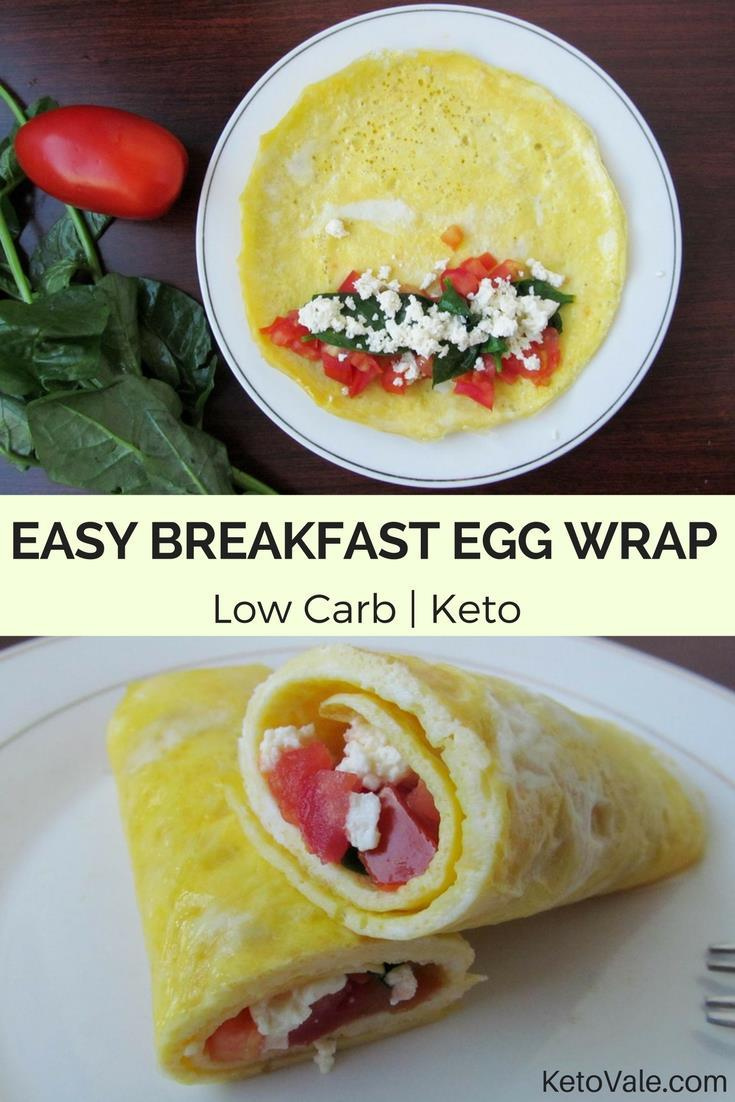 egg wrap with feta cheese tomato low carb recipe