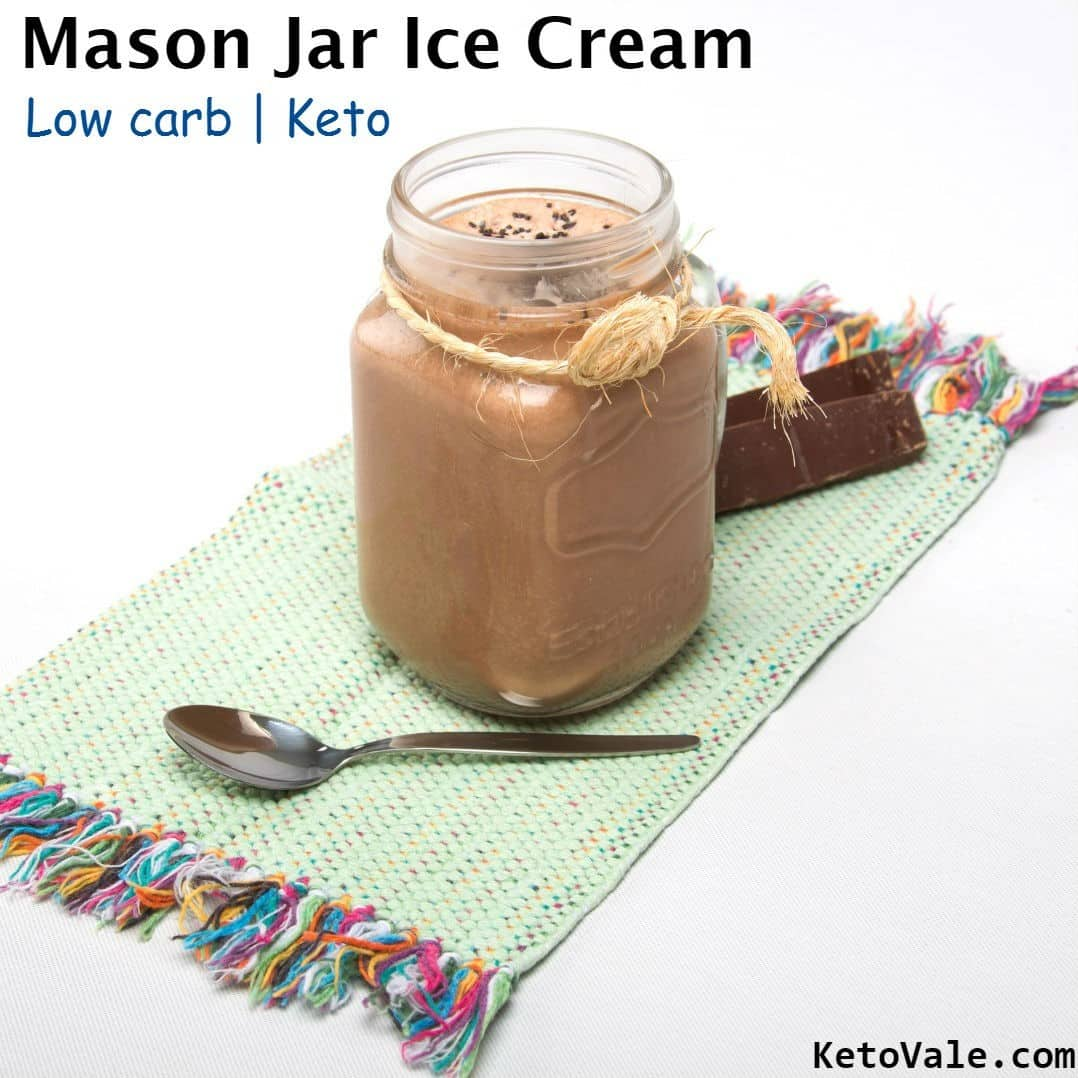 Low Carb Mason Jar Ice Cream