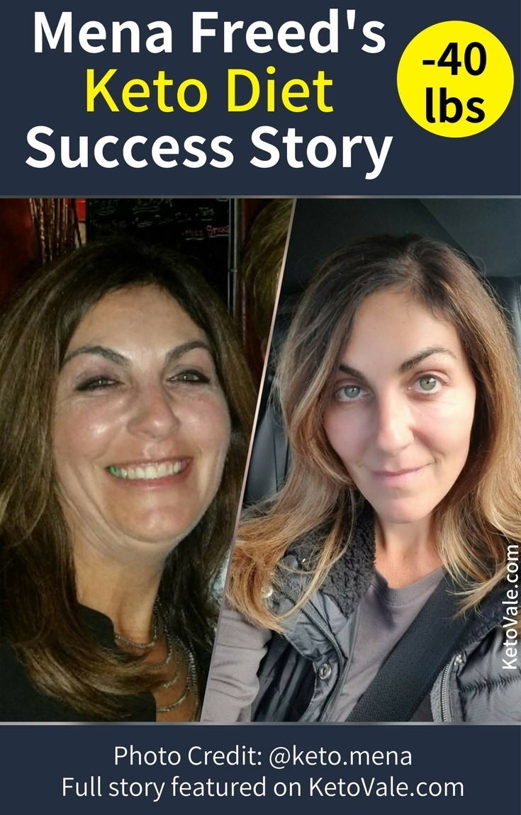 Mena Freed's Keto Success Story - Weight Loss Before and After Photo