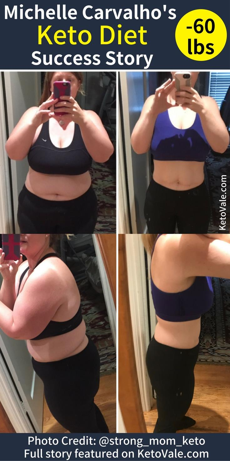Here's our amazing friend Michelle Carvalho's Keto weight loss success story and Before and After Picture of her transformation!