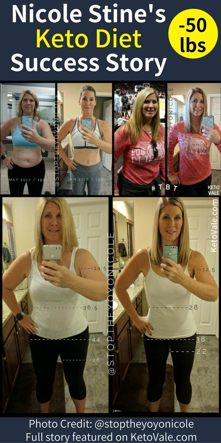 Nicole Stine's Keto Diet Success Story Weight Loss Before and After Photo