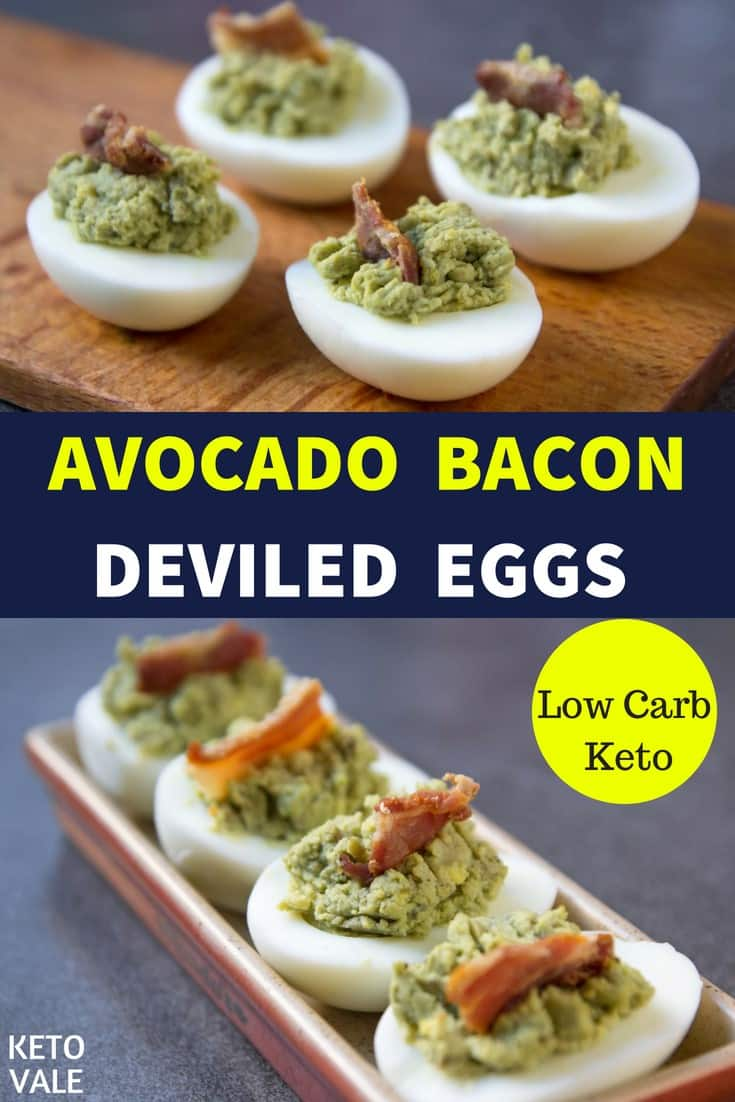 Avocado Deviled Eggs with Bacon Recipe