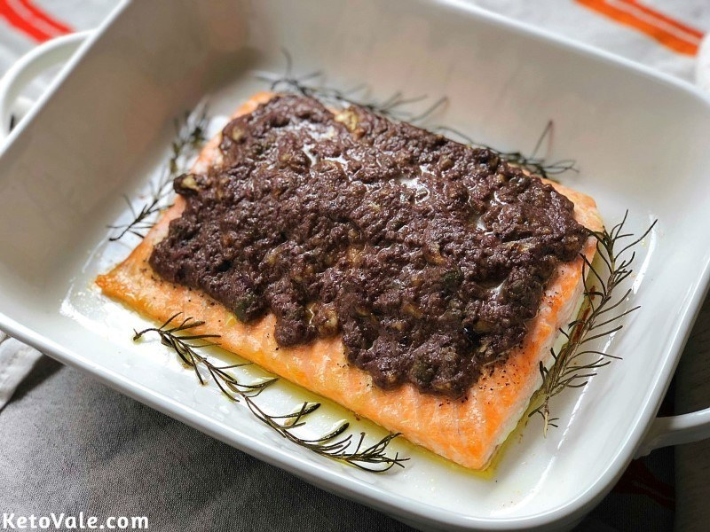 Baked Salmon with Tapenade Recipe