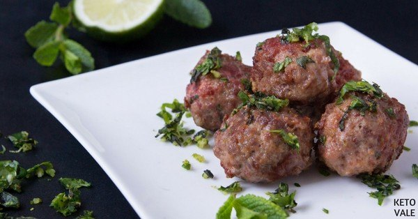 Low Carb Beef Meatballs