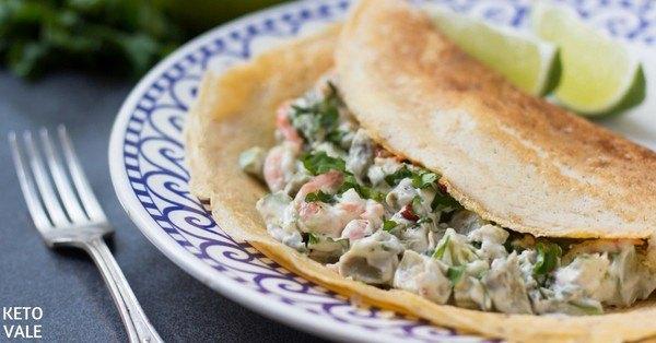 Egg Wraps with Shrimp Salad