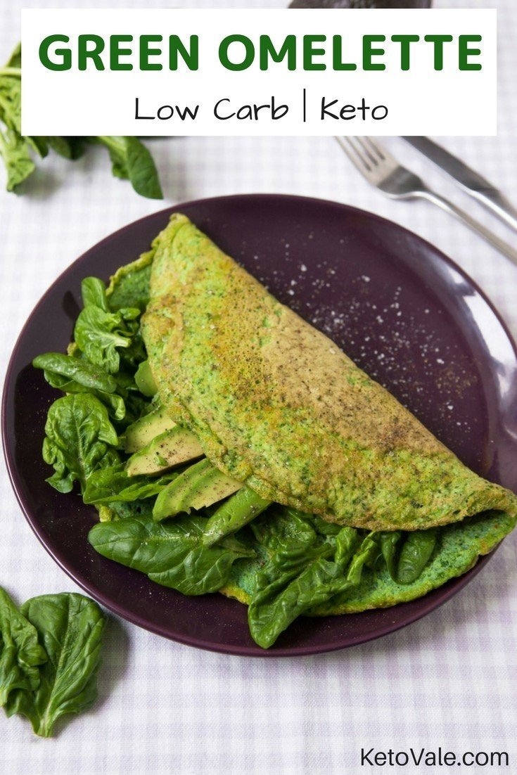 Green Omelette Low Carb