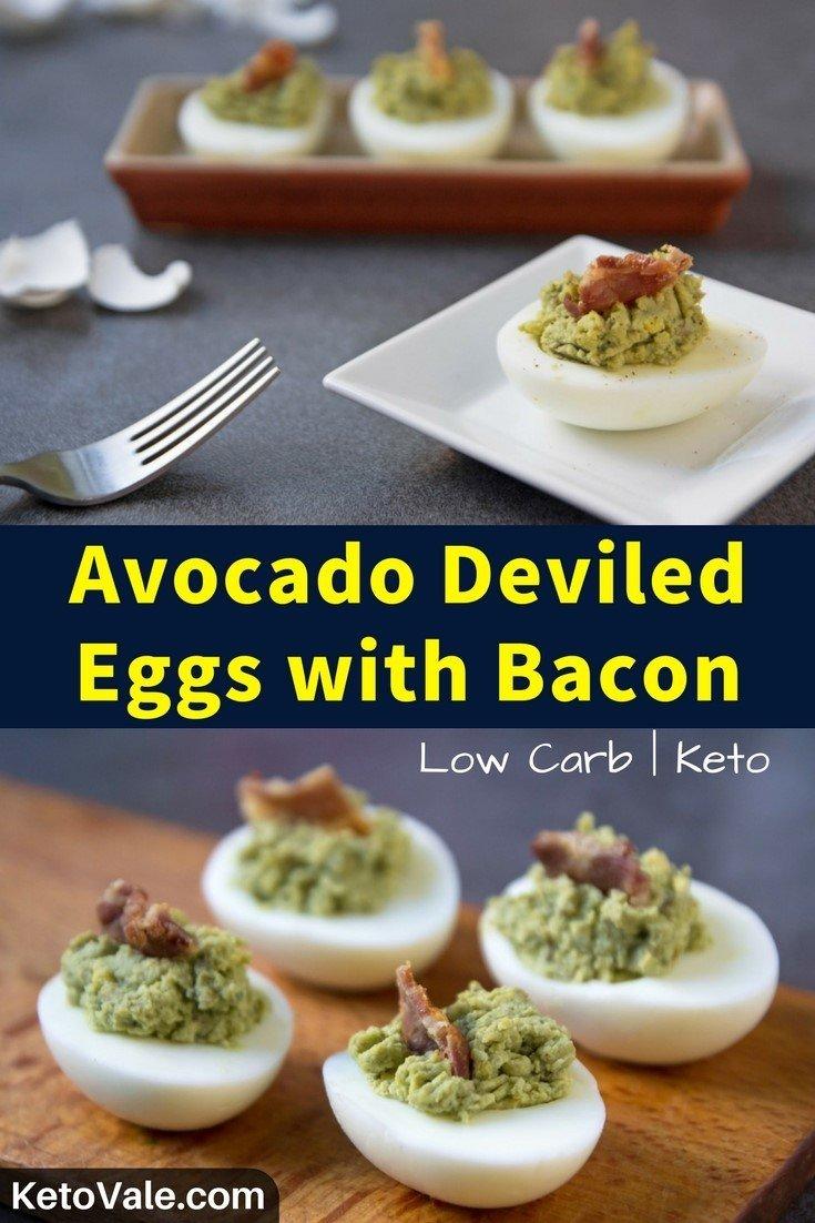 Keto Avocado Deviled Eggs Low Carb Recipe