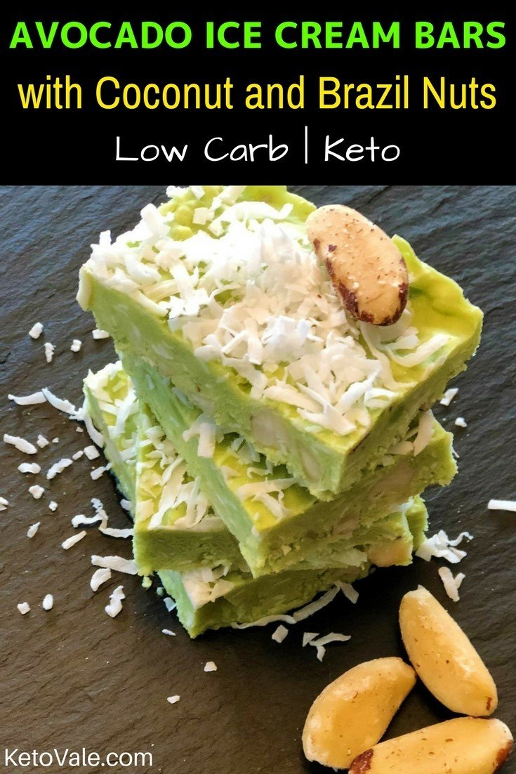 Keto Avocado Ice Cream Bars