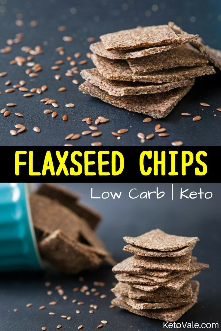 Keto Flaxseed Chips Low Carb Recipe