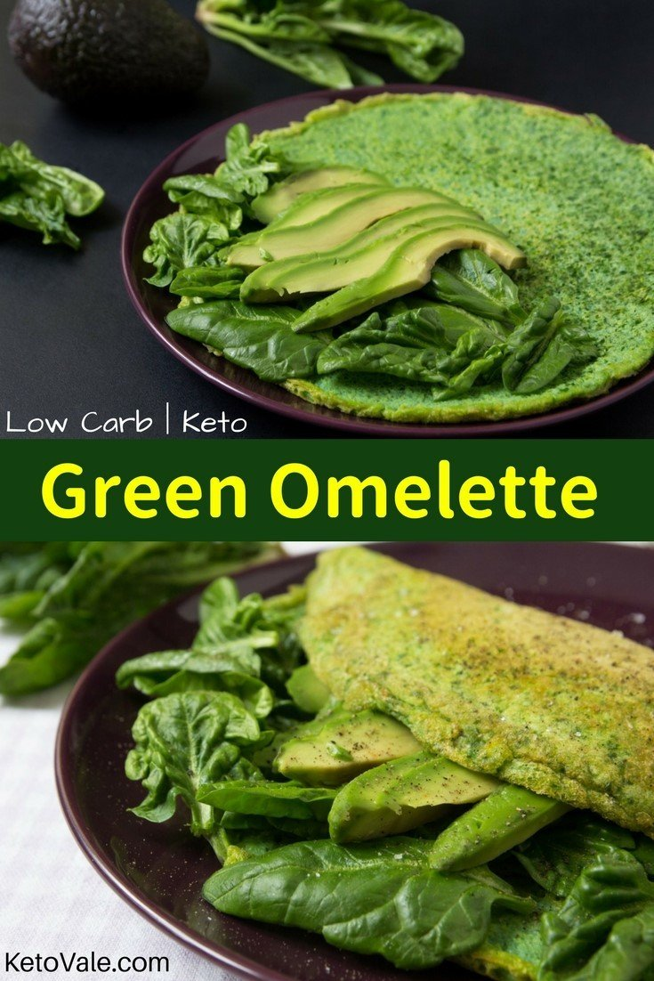 Keto Green Omelette Low Carb Recipes