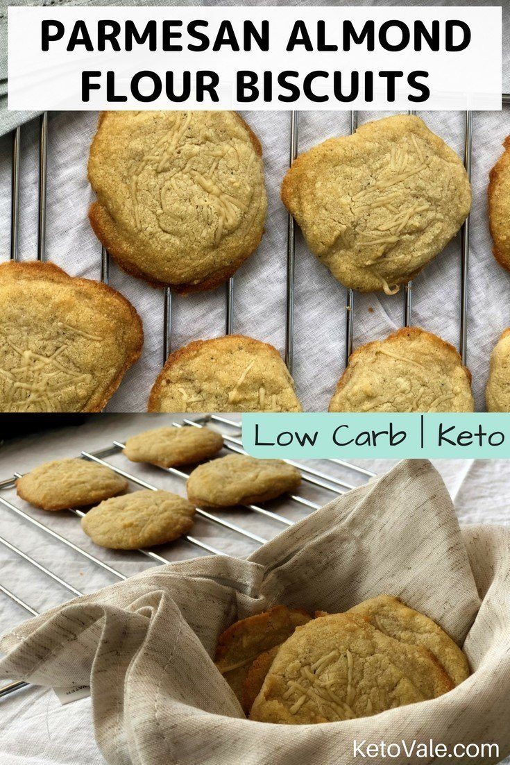 Keto Parmesan Almond Flour Biscuits Low carb recipe
