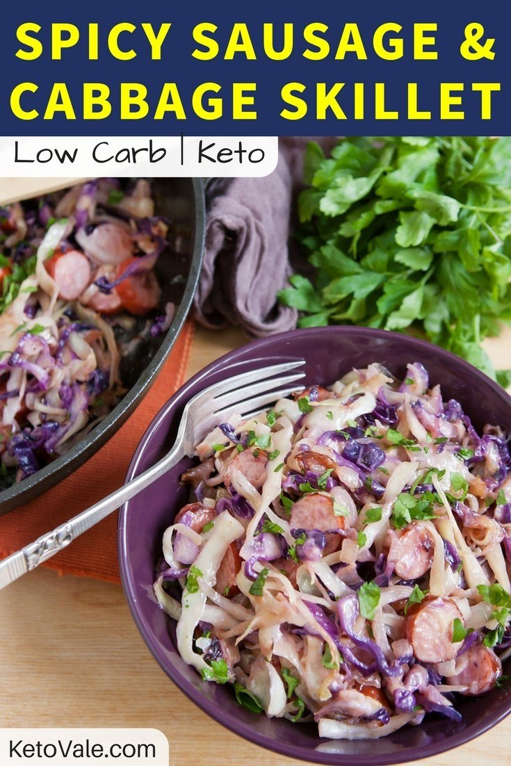 Keto Sausage and Cabbage Skillet Recipe