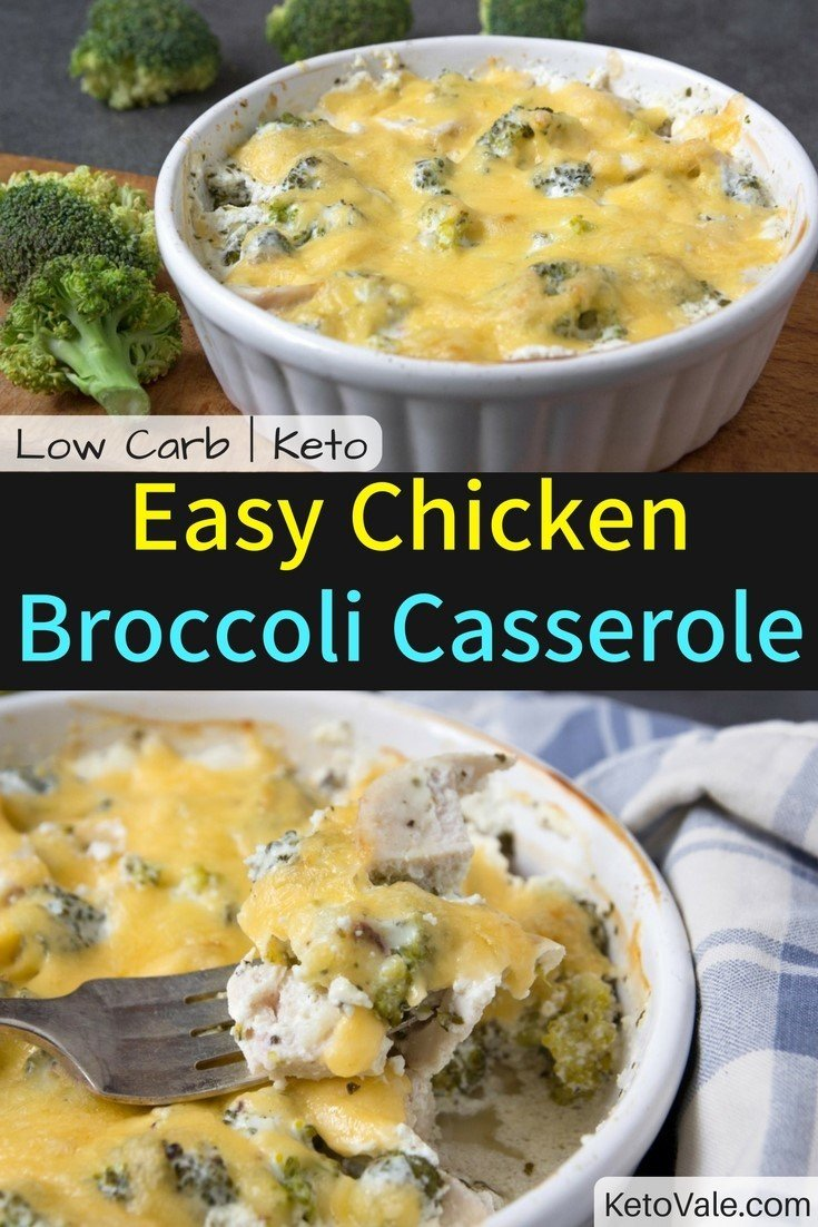 Low Carb Chicken Broccoli Casserole Keto Diet Easy Recipe