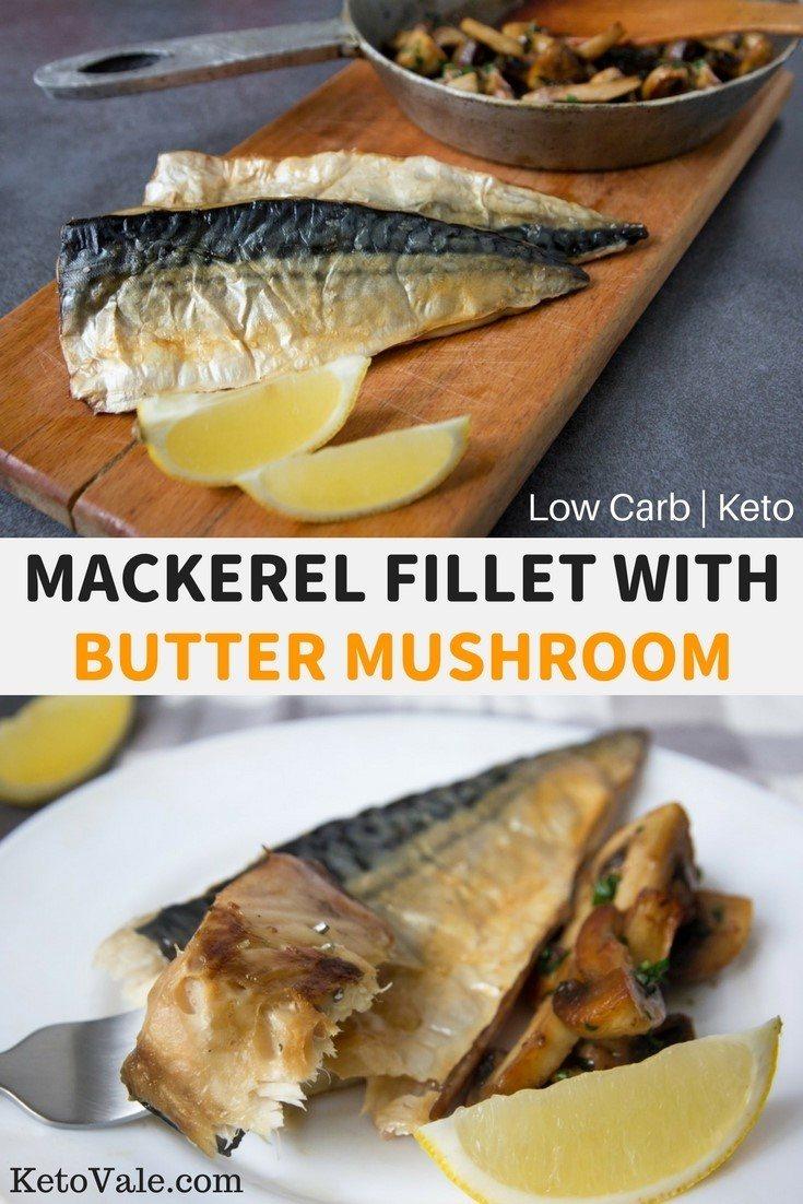 Low Carb Mackerel Fillet Mushroom Keto Diet Recipe