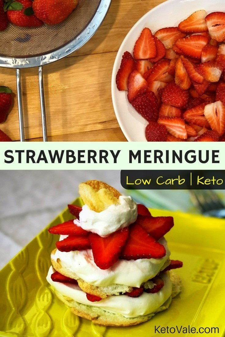 Low Carb Strawberry Meringue
