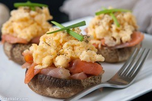 Low Carb Stuffed Mushroom Salmon Egg