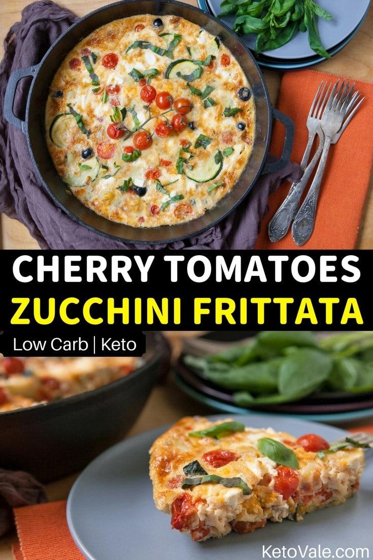 Low Carb Zucchini Cherry Tomatoes Frittata Keto Recipe