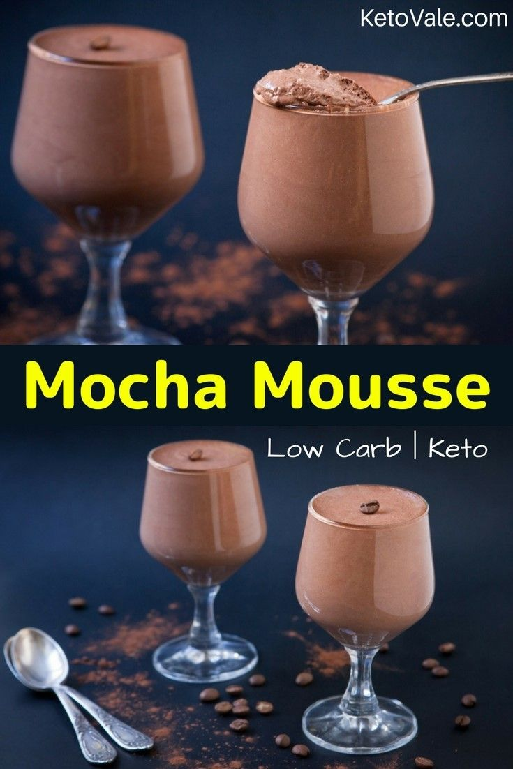 Mocha Coffee Mousse Low Carb Recipe