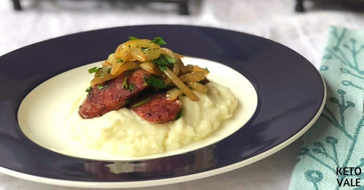 Sausage with Mashed Cauliflower