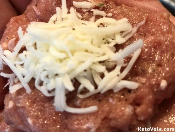 Add cheese inside of each meatbal