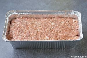 Add meat mixture into loaf pan