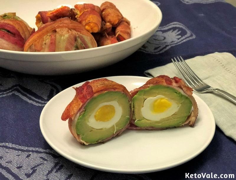 Bacon Wrapped Egg Stuffed Avocado Recipe