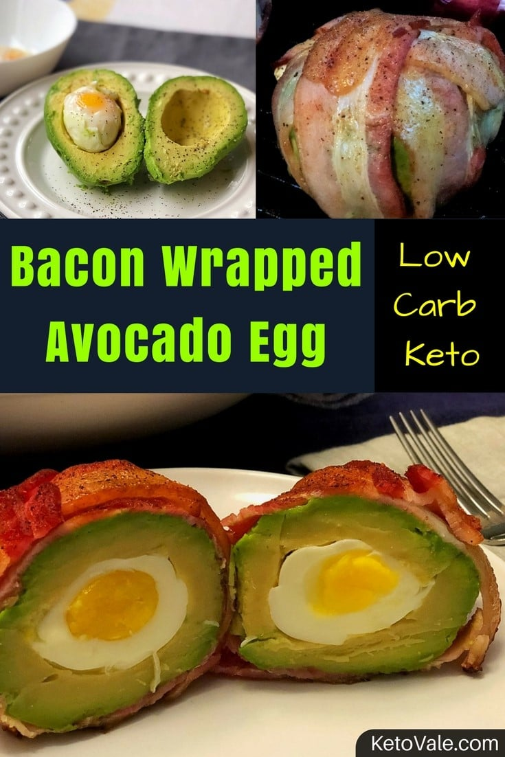 Bacon Wrapped Egg and Avocado