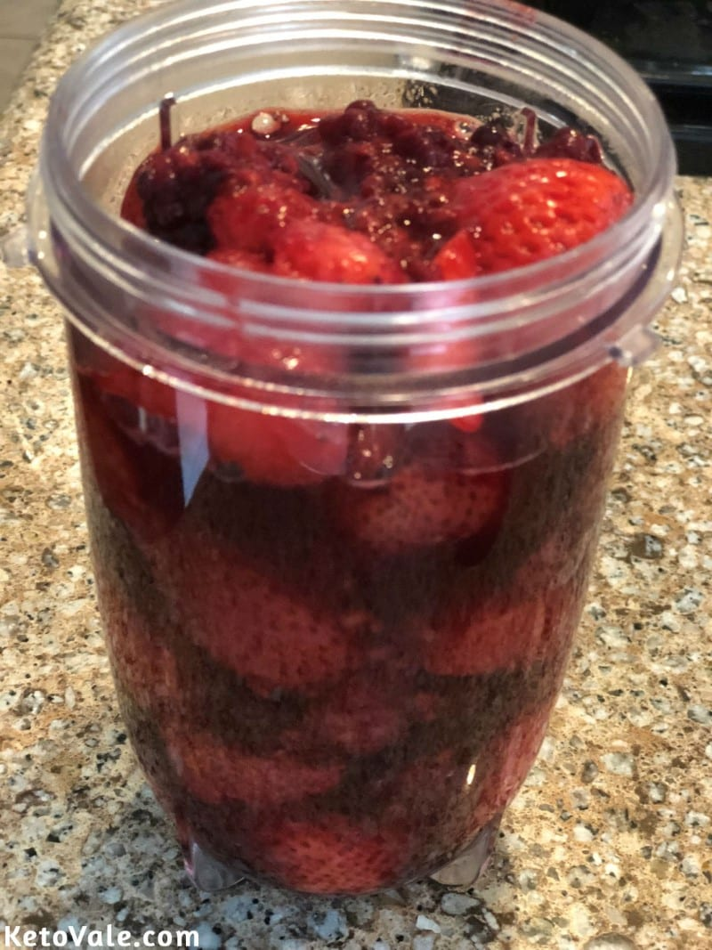 Blend fruits until smooth