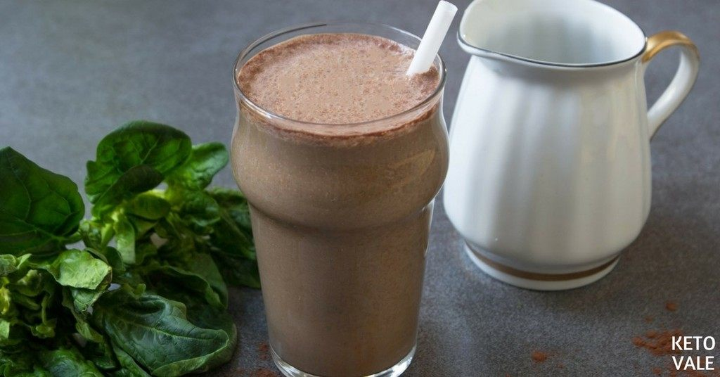 Chocolate Raspberry Spinach Green Smoothie