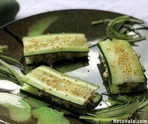 Cucumber Tuna Low Carb Sandwich Recipe