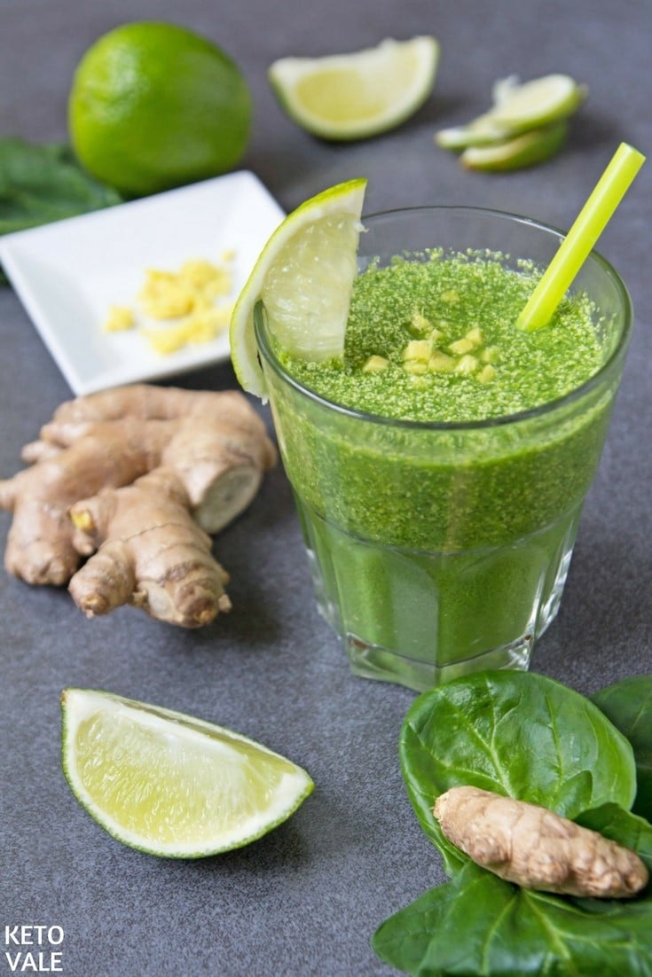 Dairy Free Ginger Green Smoothie