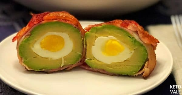 Egg Stuffed Bacon Wrapped Avocado