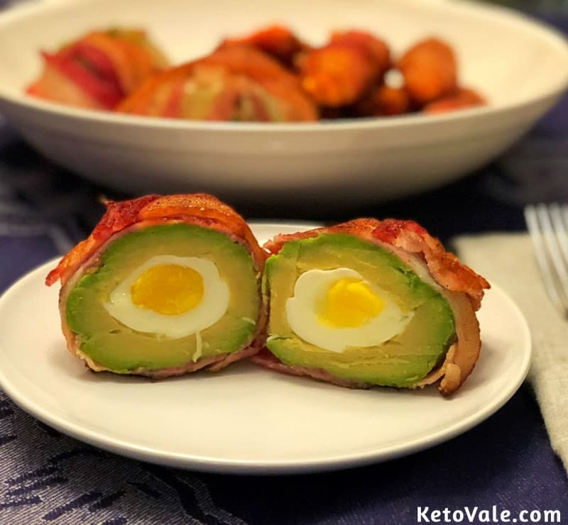 Eggs Baked in Avocado Bacon