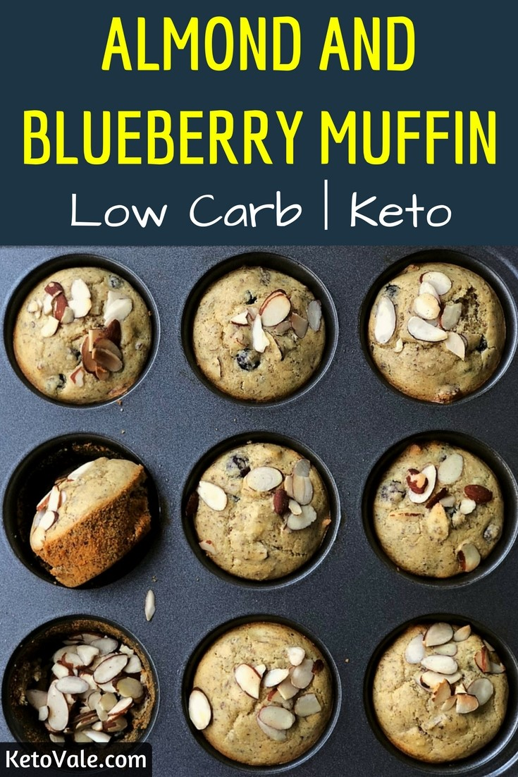 Keto Almond Blueberry Muffin